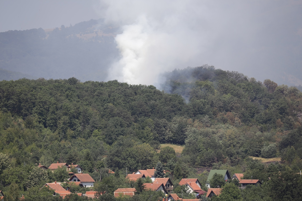 I dalje se može videti oblak dima