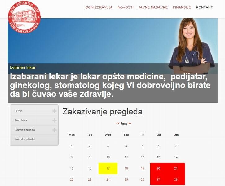 dom zdravlja zakazivanje pregleda